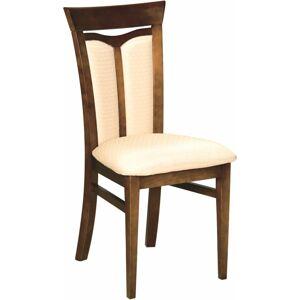 TARANKO Krzeslo W-04 rustikálna jedálenská stolička nový orech / krémový vzor (A4 0502)