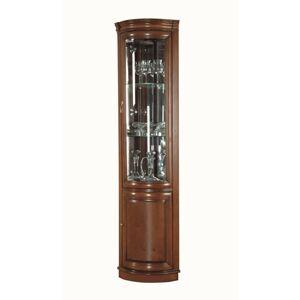 TARANKO Zefir Z-W/N rustikálna rohová vitrína toffi