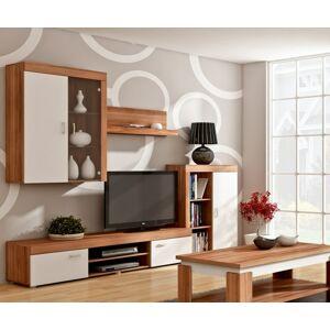 MEBLOCROSS Mamba obývacia stena slivka / biela