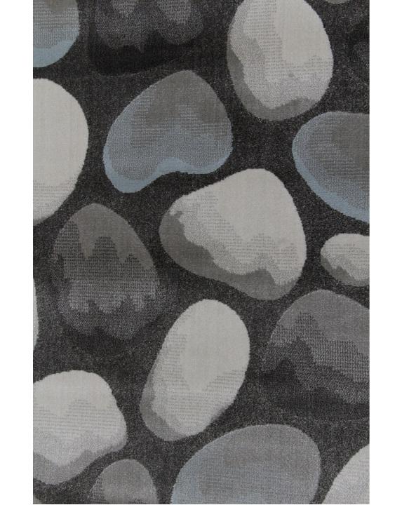 TEMPO KONDELA Menga koberec 100x150 cm hnedá / sivá / vzor kamene