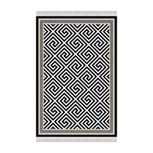 TEMPO KONDELA Motive koberec 80x200 cm čierna / biela