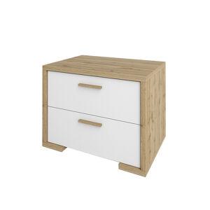 NABBI Finni BC nočný stolík dub wotan / biela