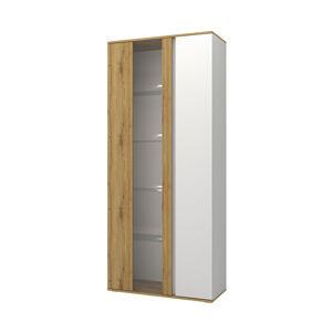 NABBI Giovanni TC-B-2D dvojdverová vitrína dub artisan / biela