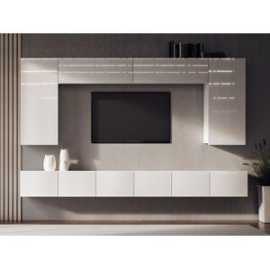 NABBI Mellby 300 obývacia stena biely lesk