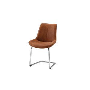 TEMPO KONDELA Nadina jedálenská stolička hnedá / chróm