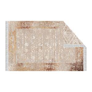 KONDELA Nesrin obojstranný koberec 80x150 cm béžová / vzor