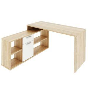 TEMPO KONDELA Noe New rohový písací stolík dub sonoma / biela
