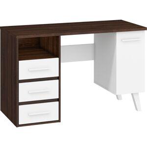 MEBLOCROSS Nordis NOR-01 pc stôl sonoma tmavá / biela