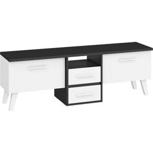 MEBLOCROSS Nordis NOR-13 tv stolík čierna / biela
