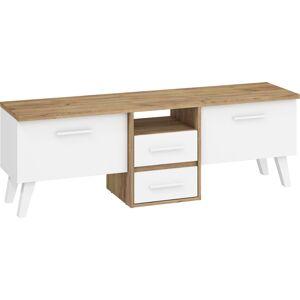 MEBLOCROSS Nordis NOR-13 tv stolík craft zlatý / biela