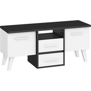 MEBLOCROSS Nordis NOR-14 tv stolík čierna / biela