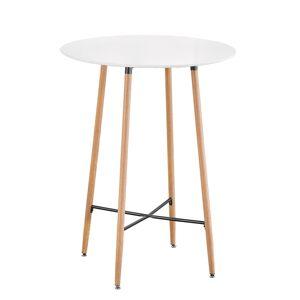 KONDELA Imam okrúhly barový stôl biela / dub