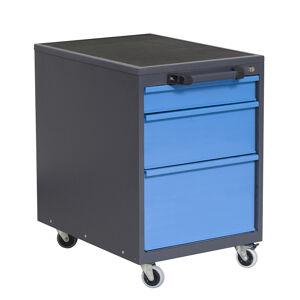 NABBI P5 mobilný kontajner k pracovnému stolu na kolieskach grafit / modrá