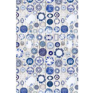 TEMPO KONDELA Parlin koberec 160x230 cm modrá / krémová