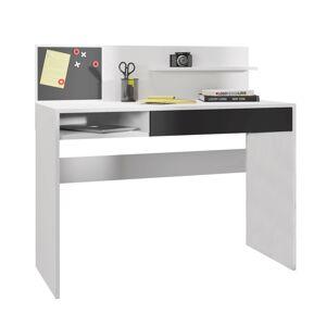 TEMPO KONDELA Iman pc stôl biela / čierna