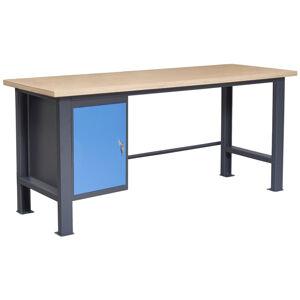 NABBI PL03L/P1 pracovný stôl grafit / modrá