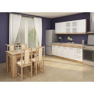 MEBLOCROSS Polo kuchyňa craft biely / craft zlatý
