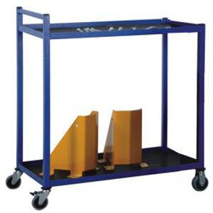NABBI PP2 dielenský vozík s dvoma policami na kolieskach modrá