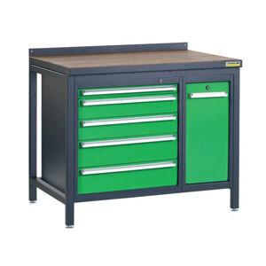 NABBI PSS01D/L4L9 pracovný stôl grafit / zelená