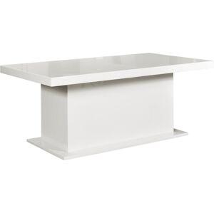 PYKA Kacper 200/400 rozkladací jedálenský stôl biely vysoký lesk
