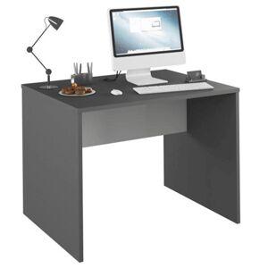 KONDELA Rioma New Typ 12 písací stôl grafit / biela