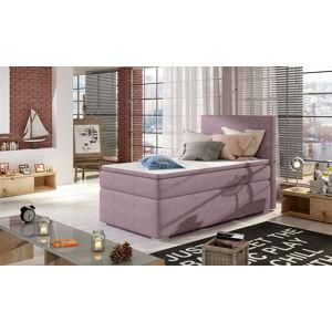 NABBI Rodrigo 90 L čalúnená jednolôžková posteľ s úložným priestorom fialová