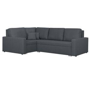 TEMPO KONDELA Milor L rohová sedačka s rozkladom a úložným priestorom sivá
