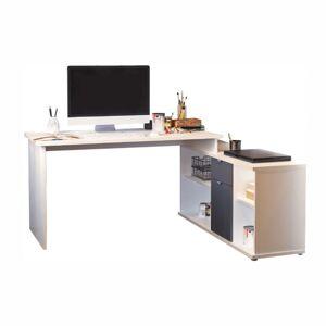 TEMPO KONDELA Dalton 2 New L/P rohový pc stolík biela / sivá