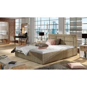 NABBI Rovigo 160 čalúnená manželská posteľ s roštom cappuccino