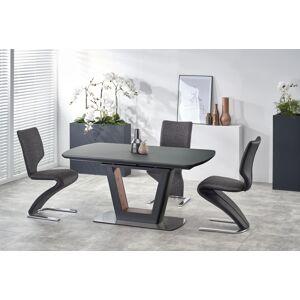 HALMAR Bilotti rozkladací jedálenský stôl antracit / orech