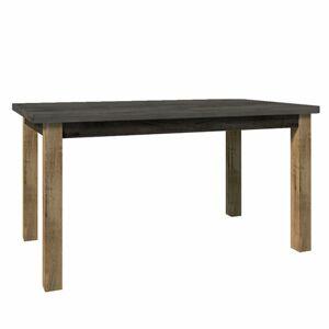 TEMPO KONDELA Montana STW rozkladací jedálenský stôl dub lefkas tmavý / smooth sivý