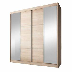 TEMPO KONDELA Multi 36 2D šatníková skriňa s posuvnými dverami dub sonoma