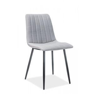 SIGNAL Alan jedálenská stolička sivá / čierna matná