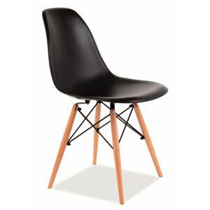 SIGNAL Enzo jedálenská stolička buk / čierna
