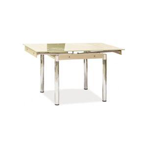SIGNAL GD-082 jedálenský stôl chrómová / priehľadná / krémová