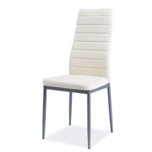 SIGNAL H-261 BIS ALU jedálenská stolička krémová / hliník