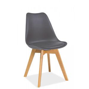SIGNAL Kris Buk jedálenská stolička sivá / buk