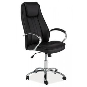 SIGNAL Q-036 kancelárska stolička s podrúčkami čierna