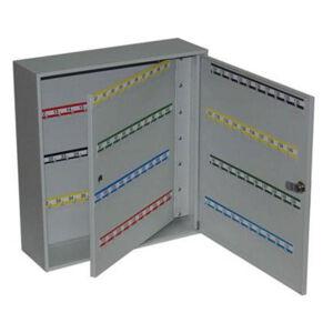 NABBI SK160 kovová skrinka na kľúče s dvojitými dverami svetlosivá