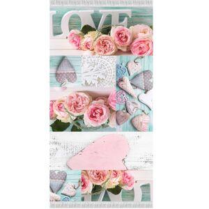 TEMPO KONDELA Sonil Typ 2 koberec 120x180 cm kombinácia farieb / vzor ruže