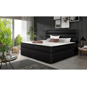 NABBI Spezia 140 čalúnená manželská posteľ s úložným priestorom čierna (Soft 11)