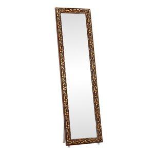 TEMPO KONDELA Pantos stojace zrkadlo hnedá