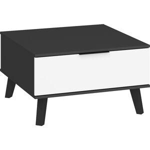 MEBLOCROSS Sven SVN-06 konferenčný stolík čierna / biely lesk