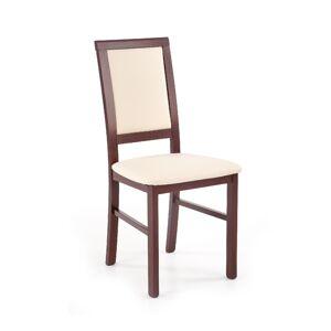 HALMAR Sylwek 1 BIS jedálenská stolička tmavý orech / krémová