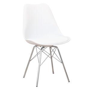 TEMPO KONDELA Tamora jedálenská stolička biela / chróm