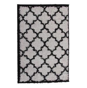 TEMPO KONDELA Tatum Typ 2 koberec 133x190 cm sivá / čierna