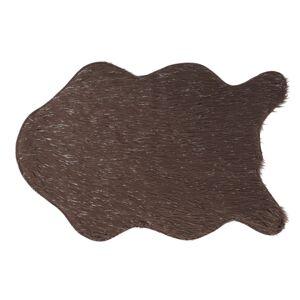 TEMPO KONDELA Fox Typ 4 umelá kožušina sivohnedá taupe / strieborná