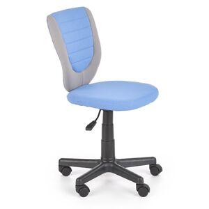 HALMAR Toby detská stolička na kolieskach modrá / sivá