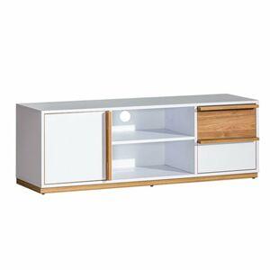 TEMPO KONDELA Knox E4 tv stolík biela / orech select