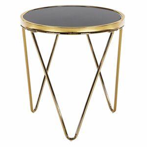 KONDELA Valero príručný stolík zlatá / čierna